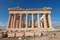 Parthenon at the Acropolis east side Royalty Free Stock Photo