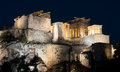Parthenon acropolis hill athens famous ancient landmark at greece Royalty Free Stock Photos
