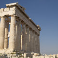 Parthenon ancient temple athens greece doric order Royalty Free Stock Images