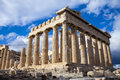 The parthenon in athens greece is main temple of acropolis an ancient religious city capital of which is Royalty Free Stock Photo
