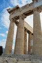 Parthenon columns closeup details