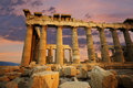 Parthenon at sunset Stock Photo