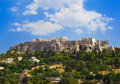 Parthenon temple in acropolis at athens greece travel background Royalty Free Stock Photo