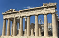 Parthenon temple in Athens, Greece Royalty Free Stock Photos