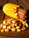 Partial cob of corn Stock Photo