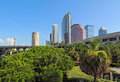 Partial skyline of Tampa, Florida Royalty Free Stock Photo