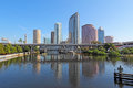 Partial skyline and USF Park in Tampa, Florida Royalty Free Stock Photo