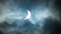 Partial solar eclipse the th march aberdeen scotland Royalty Free Stock Photos