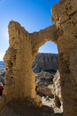 Partial view of guge ruins palace Royalty Free Stock Photo