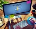 Partiality prejudice unfairness help victims bias concept Royalty Free Stock Images
