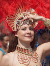 Participant at copenhagen carnival 2012 Royalty Free Stock Photography