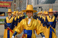 Participant at the deoksugung palace royal guard changing seoul korea april ceremony on april in seoul is a tradition similar to Stock Images