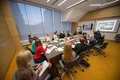 Participants listening to the speaker on Business Breakfast Royalty Free Stock Photo