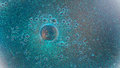 Particles and bubbles universe with colorful Royalty Free Stock Photo