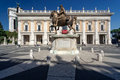 Particular of piazza del campidoglio rome italy city view Royalty Free Stock Images