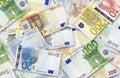 Partij van Euro bankbiljetten Royalty-vrije Stock Afbeelding