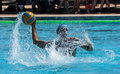 Partita di waterpolo Fotografie Stock
