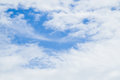 Partly cloudy in the morning sun. Royalty Free Stock Photo