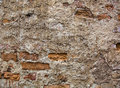 Partly plastered brick wall with rich texture Royalty Free Stock Photo