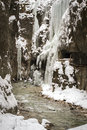 Partnachklamm gorge bavaria ger winter Royalty Free Stock Photos