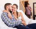 Partner having unfaithfulness woman
