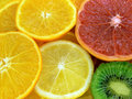 Parts des fruits Photographie stock