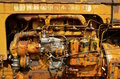 Parts of an old Minneapolis Moline tractor engine Royalty Free Stock Photo