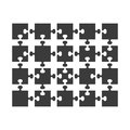 Parts of puzzles flat in white background. Jigsaw
