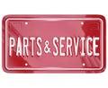 Parts and Service License Plate Automotive Car Repair Shop