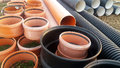 The parts for sewer water drain, pipes Royalty Free Stock Photo