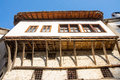 Parts and wooden architecture of Melnik, Bulgaria Royalty Free Stock Photo