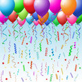 Party background with balloons Stock Photo