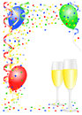 Party background vector illustration of a with balloons Royalty Free Stock Photo