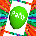 Party balloon represents parties events and celebration representing Royalty Free Stock Photography