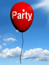 Party balloon represents parties events representing and celebrations Stock Photo