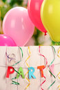 Party. Balloons against Royalty Free Stock Photo