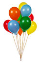 Party balloons colorful helium on white background Royalty Free Stock Photos