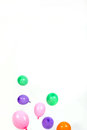 Party balloons and ribbons Royalty Free Stock Photo
