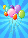 Party balloons template Royalty Free Stock Images