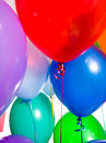 Party Balloons on white Royalty Free Stock Image