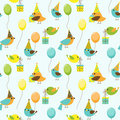 Party birds pattern Stock Photography