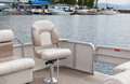 Party Boat Chair Stock Photo