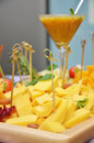 Party buffet with cheese Stock Photo