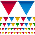 Party Bunting Flags Border Royalty Free Stock Photo