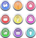Party buttons Stock Image