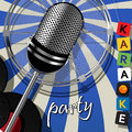 Party card karaoke music Royalty Free Stock Photos