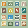 Party and celebration icon set illustration eps Stock Image
