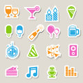Party and celebration icon set illustration eps Stock Photos