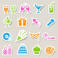 Party and celebration icon set illustration eps Stock Photo