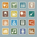 Party and celebration icon set illustration eps Royalty Free Stock Photography